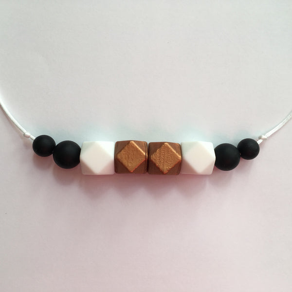 Cappuccino Teething Necklace - Little Buds Teethers