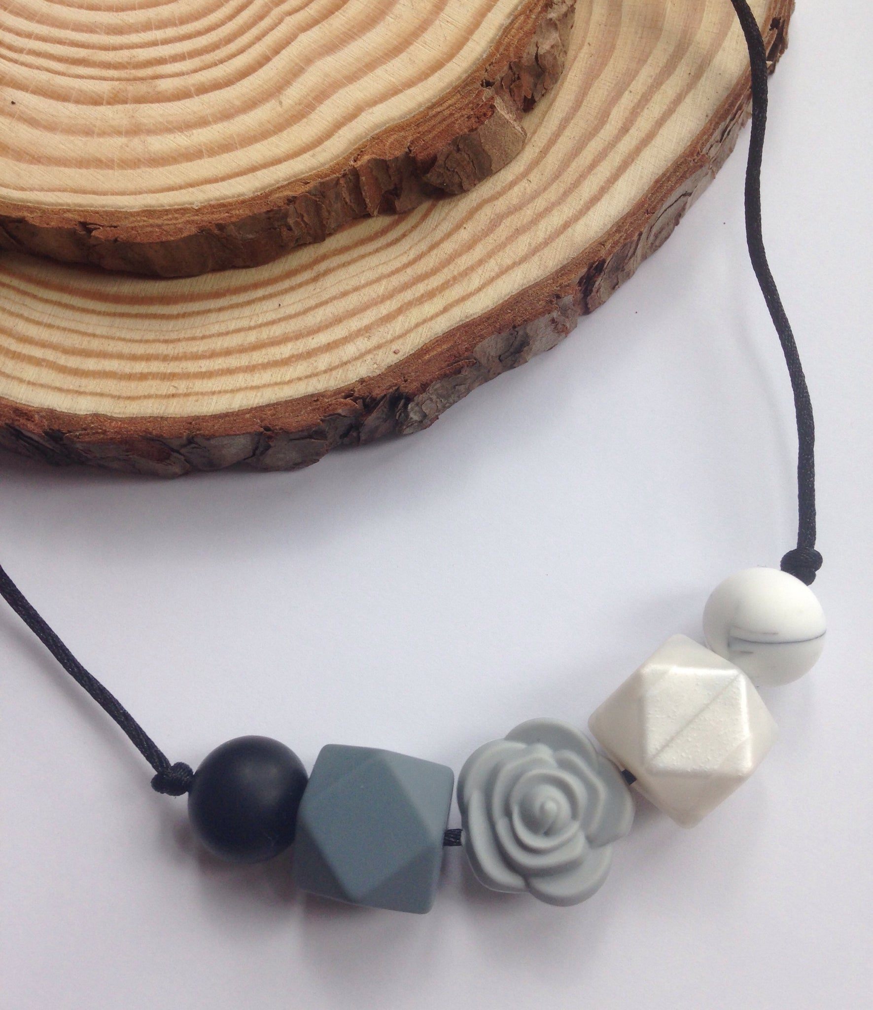 Smokey Rose Teething Necklace