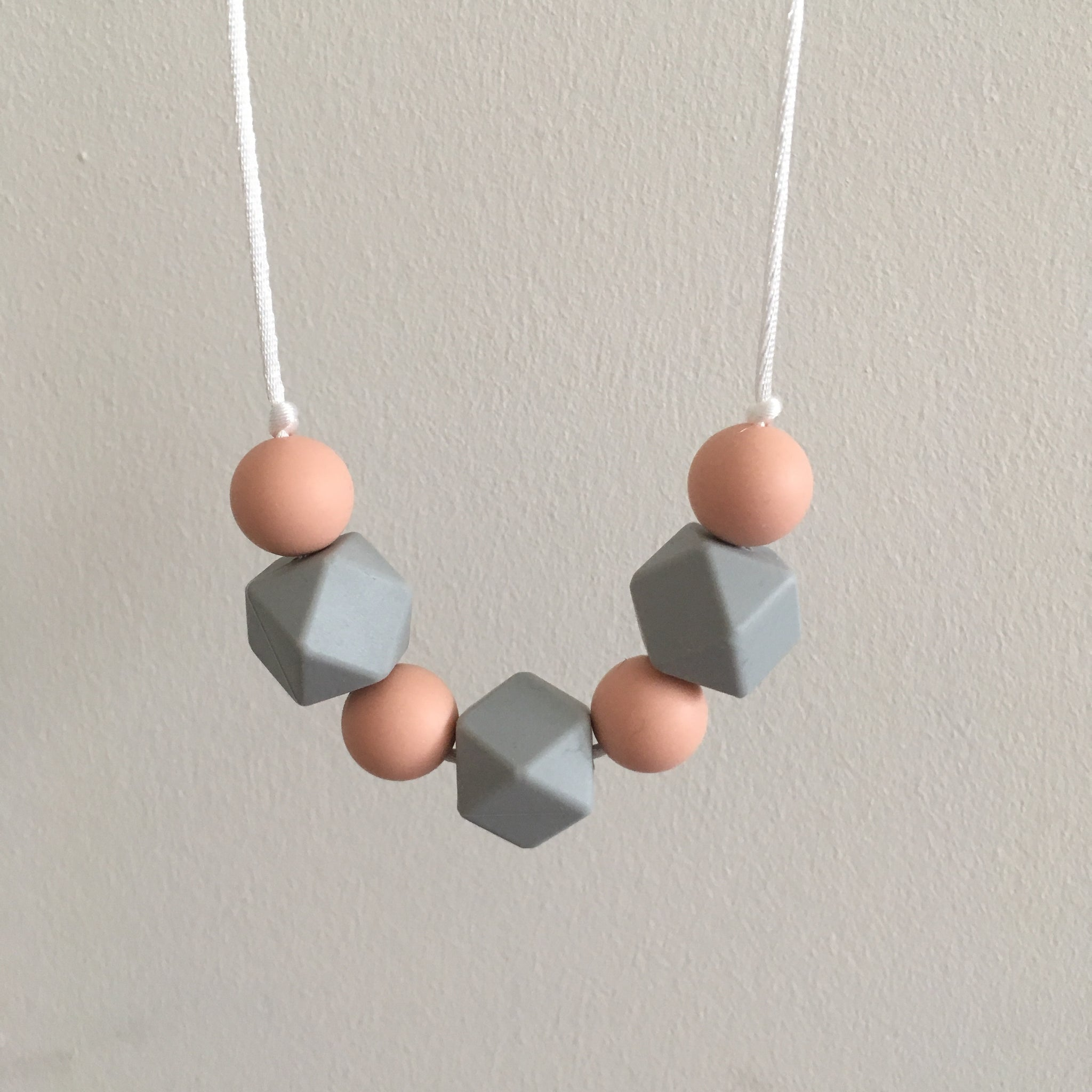 Apricot Teething Necklace - Little Buds Teethers