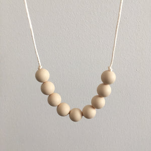 Pure Cream Teething Necklace - Little Buds Teethers