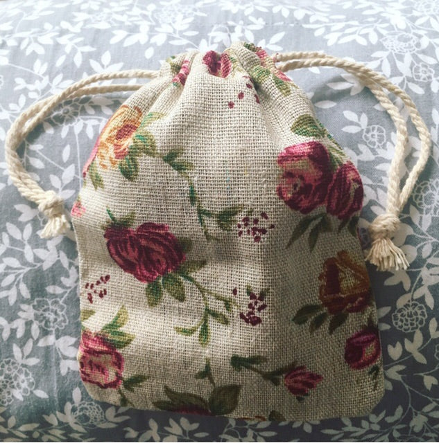 Floral Teething Necklace Storage Bag - Little Buds Teethers