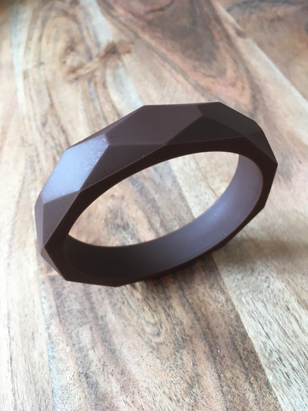 Brown Silicone Teething Bangle