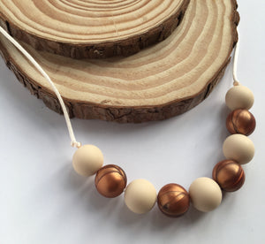 Caramel Teething Necklace
