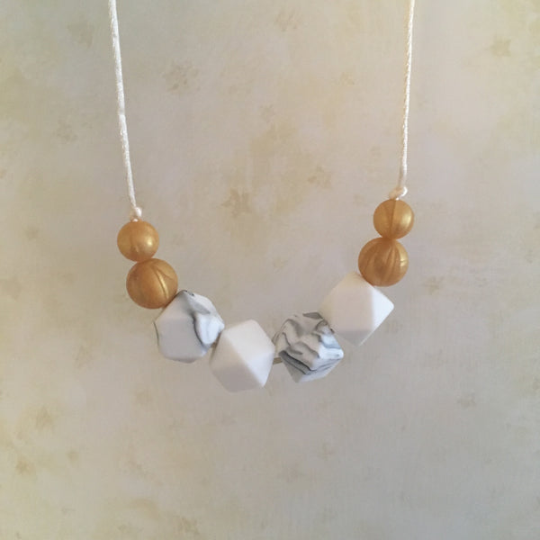 Champagne Teething Necklace - Little Buds Teethers