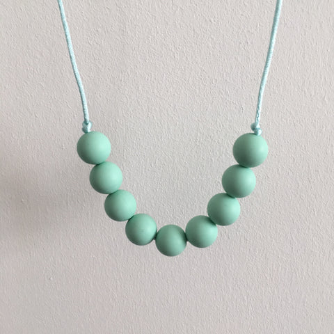 Pure Mint Teething Necklace - Little Buds Teethers