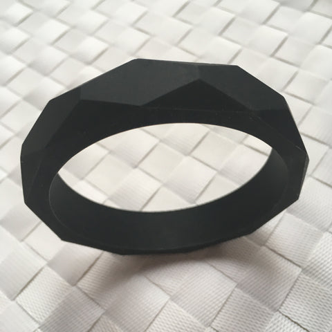 Black Silicone Teething Bangle - Little Buds Teethers