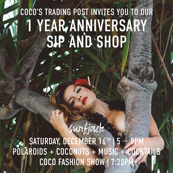 1 YEAR ANNIVERSARY SIP AND SHOP
