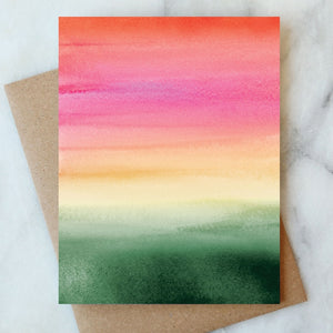 Ombre Blank Card