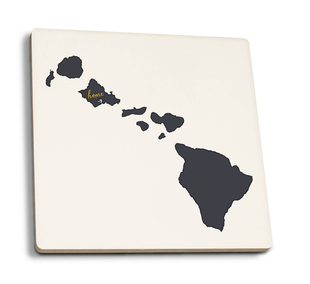 Ceramic Coaster - Oahu Home