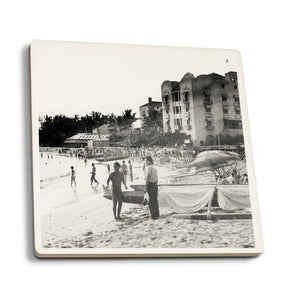 Ceramic Coaster - Waikiki Beach