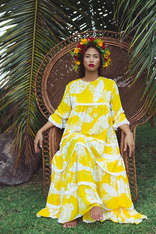 Yellow Eimeo Matahari Maxi Dress