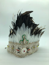 Feather and Shell Macrame Crown
