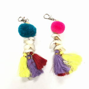 Colorful Pomp Keychain