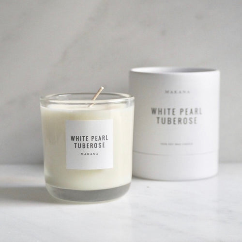 Makana Candles - White Pearl Tuberose 10oz