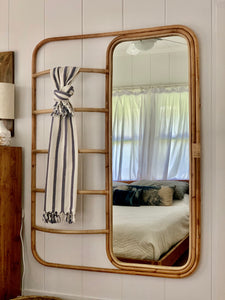Rattan Ladder Mirror