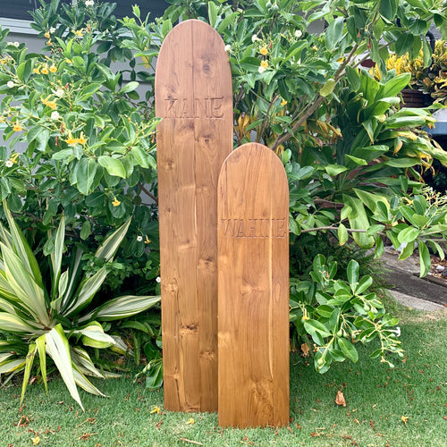 Teak Etched Alaia Surfboard - WAHINE