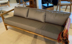 Teak Dark Grey Sunbrella 3 Seater Sofa