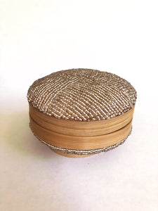 Round Balinese Beaded Basket