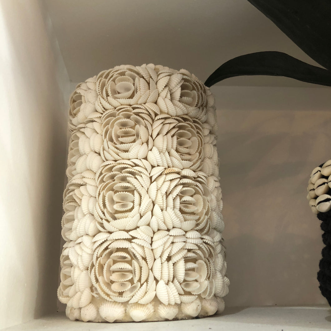 White Shell Tower Decor