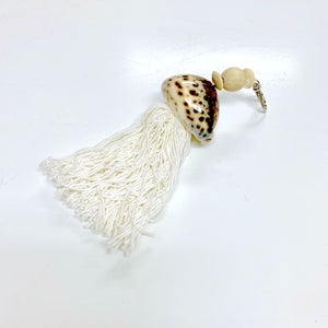 Tiger Cowrie Shell Key Chain