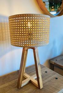 Cane Side Lamp