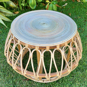Spiral Rattan Side Table
