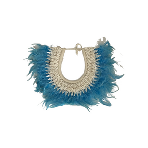 Blue Feather Wall Necklace