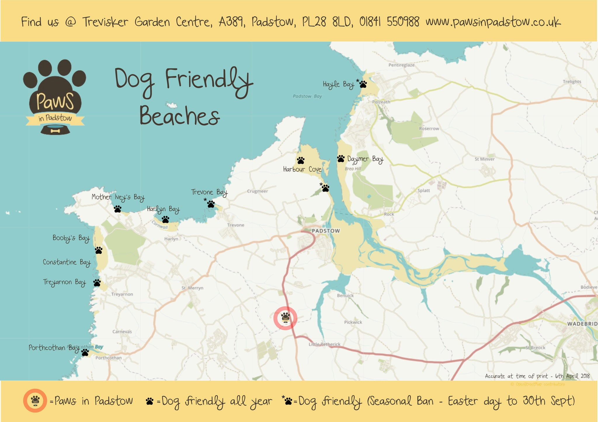 dog friendly beaches map padstow north cornwall