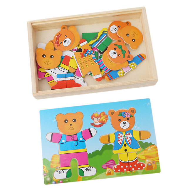 Bear Family Dress Up Collection - Mix and Match Outfits