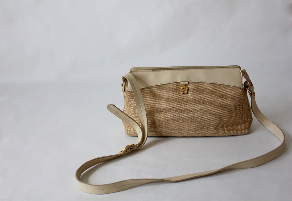 Woven & Leather Crossbody