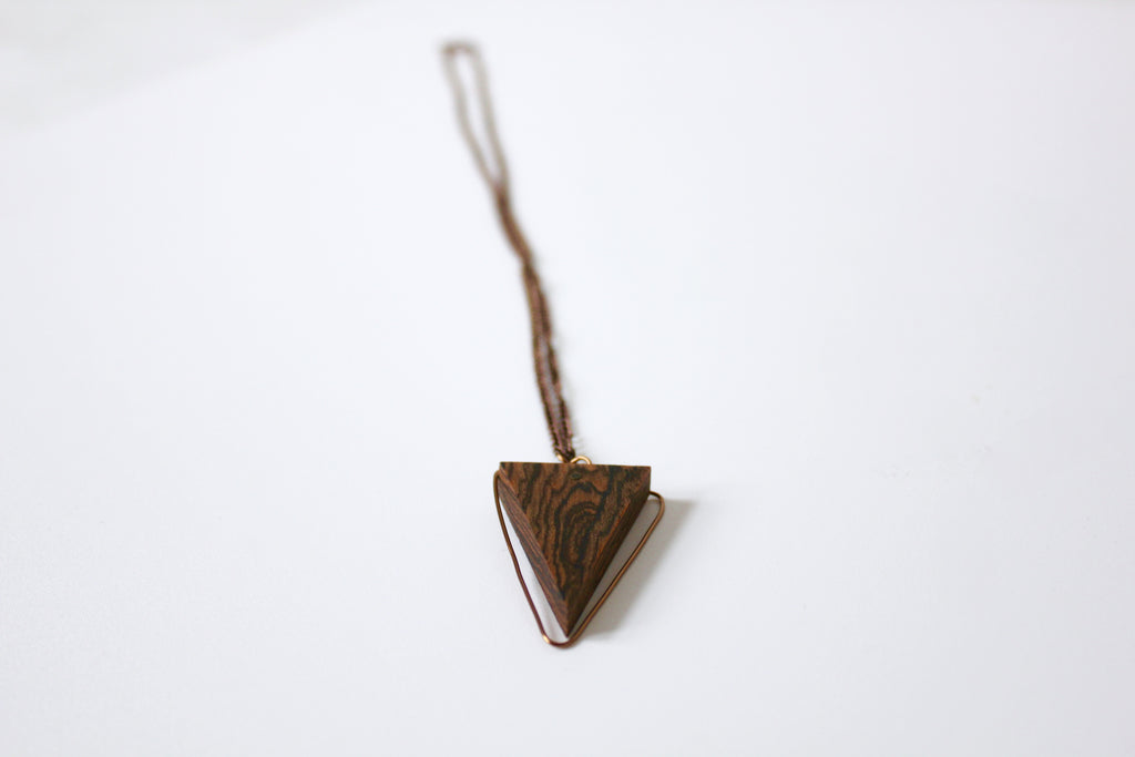 Wood & Wire Isosceles Necklace