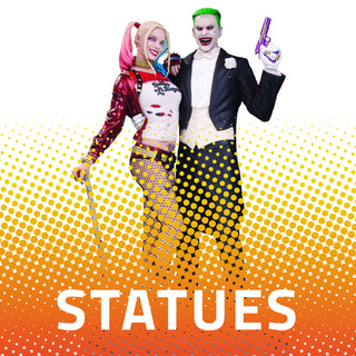 all statues available at comic-kazi, figures, harley quinn, joker, dc, batman, mcu, marvel, comics, tv, movies