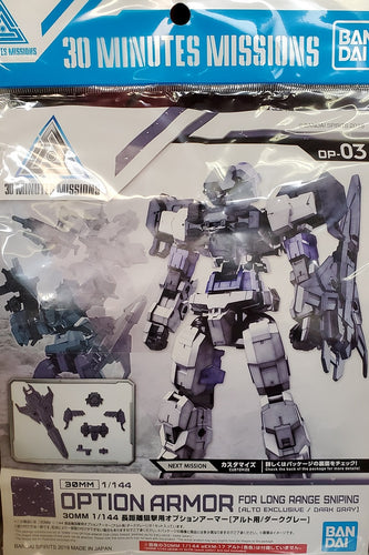 30 minute mission optional alto armor set gray version model kit
