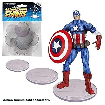 Action Figure Clear Base Stands