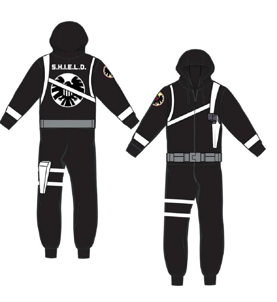 agent of shield jumpsuit onesie pajama