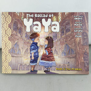 Front cover of The Ballad of Yaya Book 5: The Promise. Manga by Jean-Marie Omont, Patricia Marty, Charlotte Girard and Golo Zhao.