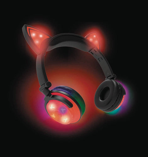 Hype Wireless LED Cat Ear Red Headphones