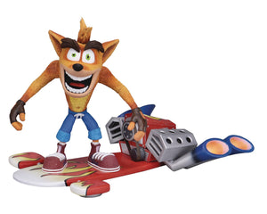 Crash Bandicoot Crash Deluxe Figure with Jet Board
