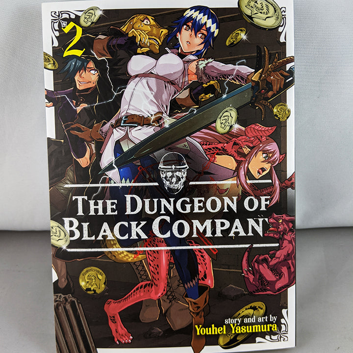 Front cover of Dungeon of Black Company Vol. 2. Manga by Youhei Yasamura