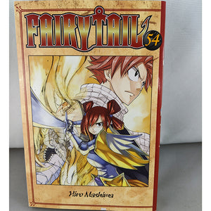 Front Cover of Fairy Tail Volume 54. Manga by Hiro Mashima.