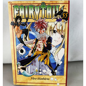 Front cover of Fairy Tail Volume 55. Manga by Hiro Mashima