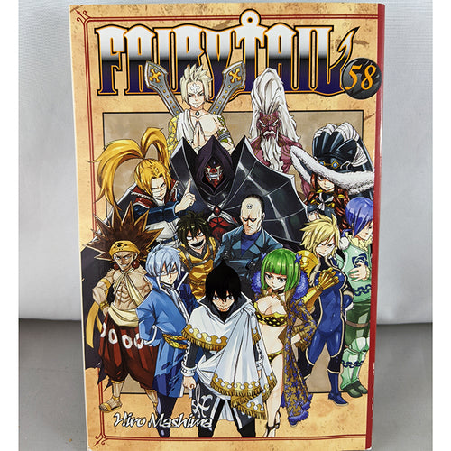 Front cover of Fairy Tail Volume 58. Manga by Hiro Mashima