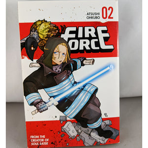 Front cover of Fire Force Volume 2. From the creator of Soul Eater. By Atsushi Ohkubo.
