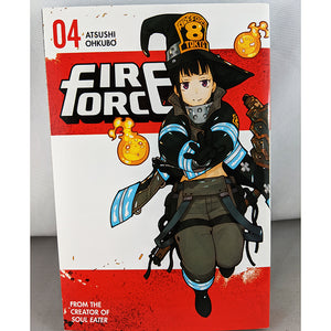 Front cover of Fire Force Volume 4. From the creator of Soul Eater. By Atsushi Ohkubo.