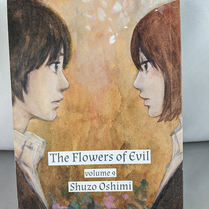 Front cover of The Flowers of Evil Volume 9. Manga by Shuzo Oshimi.