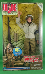 GI Joe Talking WWII E.T.O. Military Policeman 12 Inch Poseable Figure with accessories and fabric outfit