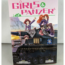 Front cover of Girls & Panzer Volume 2. Manga by Girls and Panzer Project and Ryohichi Saitaniya