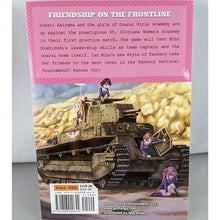 Back cover of Girls & Panzer Volume 2. Manga by Girls and Panzer Project and Ryohichi Saitaniya