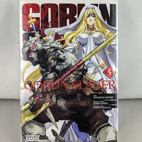 Front cover of Goblin Slayer volume 5. Manga by Shimizu  Eichi and Shimoguchi Tomohiro.