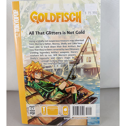 Back cover of Goldfisch volume 2. Manga by Nana Yaa